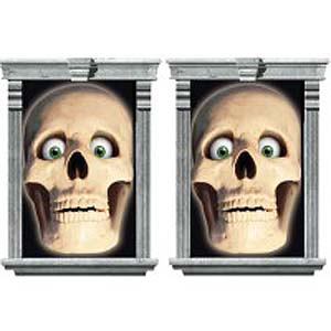 SKULL WINDOW DECORATION - PACK 2