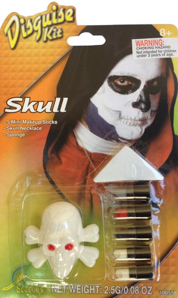 SKULL FACE PAINT DISGUISE KIT