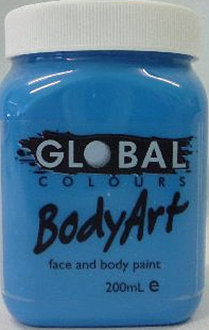 GLOBAL 200ML FACE PAINT - SMURF BLUE