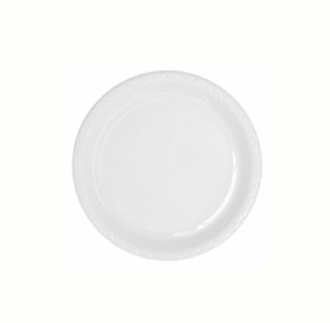 ENTREE/ SNACK OR SIDE PLASTIC PLATE ECONOMY - BULK PACK 50