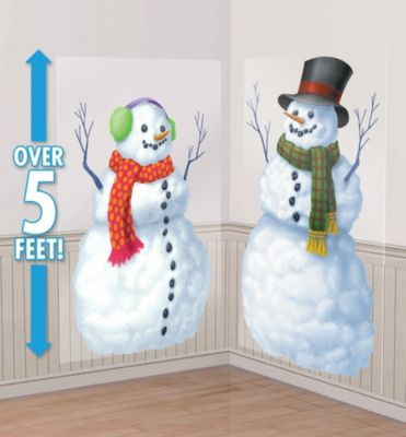 SNOW MAN AND SNOW WOMAN ADD ON SCENE SETTER