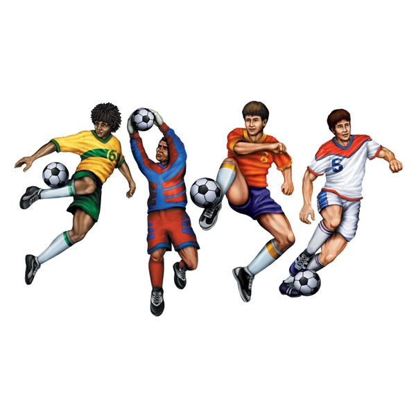 SOCCER CUT OUTS - PACK 4