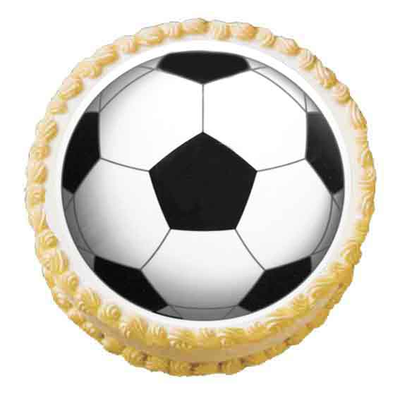 SOCCER BALL EDIBLE ICING IMAGE