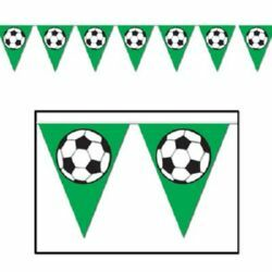 SOCCER BALL TRIANGULAR BUNTING
