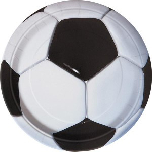 SOCCER BALL DINNER PLATES PK OF 8