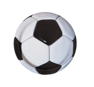 SOCCER PARTY LUNCH PLATES - PACK OF 8