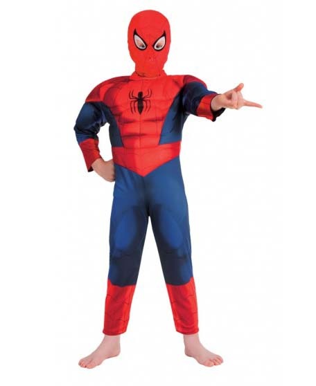 SPIDERMAN ULTIMATE DELUXE BOYS COSTUME - SIZE 3-5