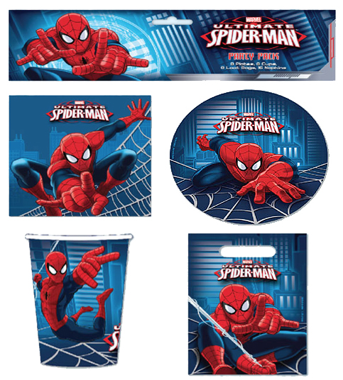 SPIDERMAN ULTIMATE PARTY PACK OF 40