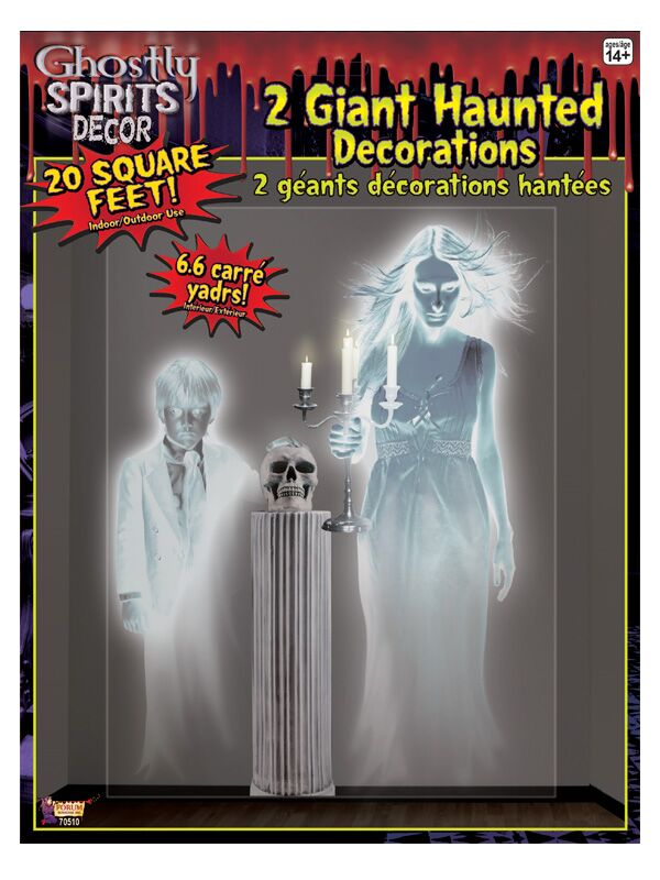 SCENE SETTER - GHOSTLY WOMAN & CHILD JUMBO WALL DECO