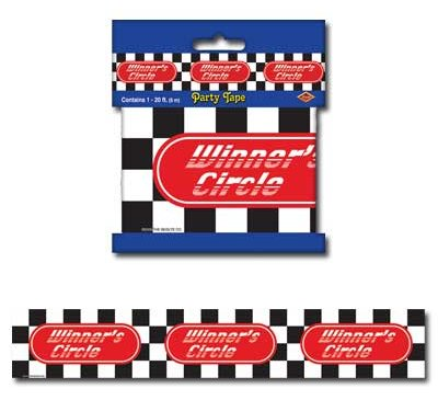 CHECKERED FLAG WINNERS CAUTION TAPE 6M