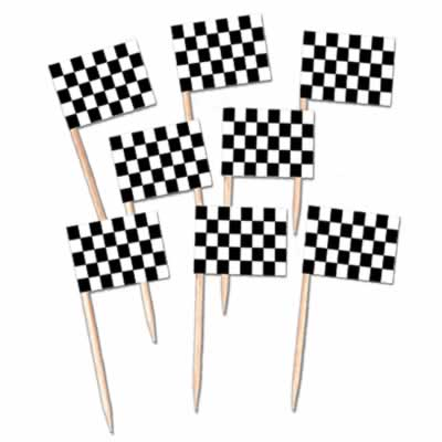 CHECKERED FLAG PICKS PACK OF 50