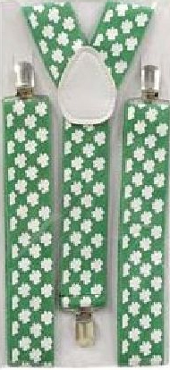 SHAMROCK BRACES/SUSPENDERS FOR ST PATRICK'S DAY
