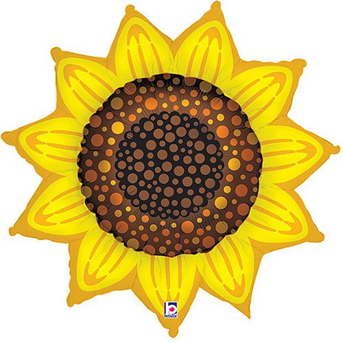 FOIL SUPER SHAPE BALLOON - SUNFLOWER