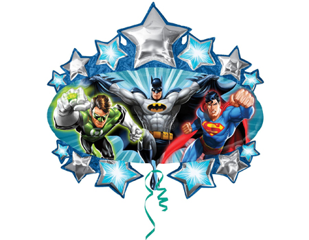 FOIL SUPER SHAPE BALLOON - JUSTICE LEAGUE SUPER HEROES MARQUEE
