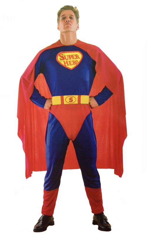 SUPER HERO/SUPERMAN FANCY DRESS COSTUME