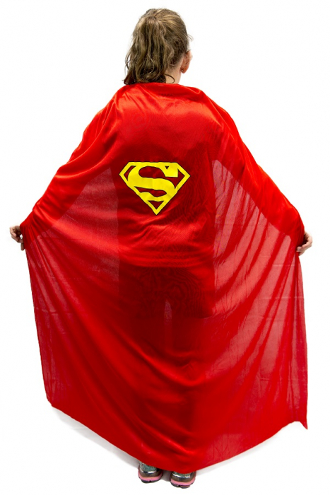 SUPERMAN CAPE FOR ADULTS OR CHILDREN