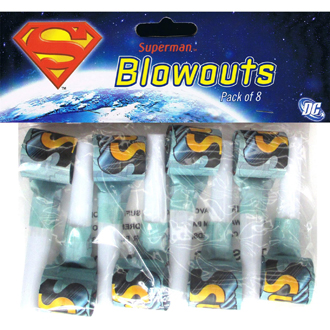 SUPERMAN BLOWOUTS - PACK OF 8