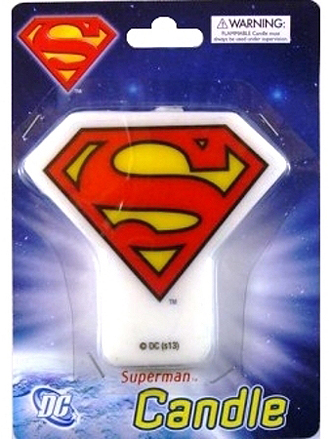 SUPERMAN PARTY CANDLE