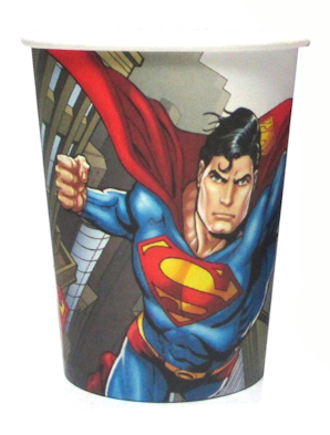 SUPERMAN CUPS - PACK OF 8