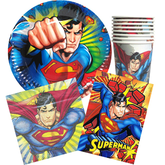 SUPERMAN PARTY PACK OF 40