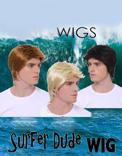 WESTIE/ SURFER DUDE WIG - SHORT