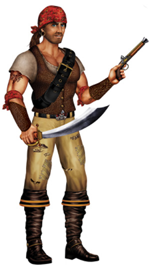Image of Swashbuckler Pirate Jointed Figure