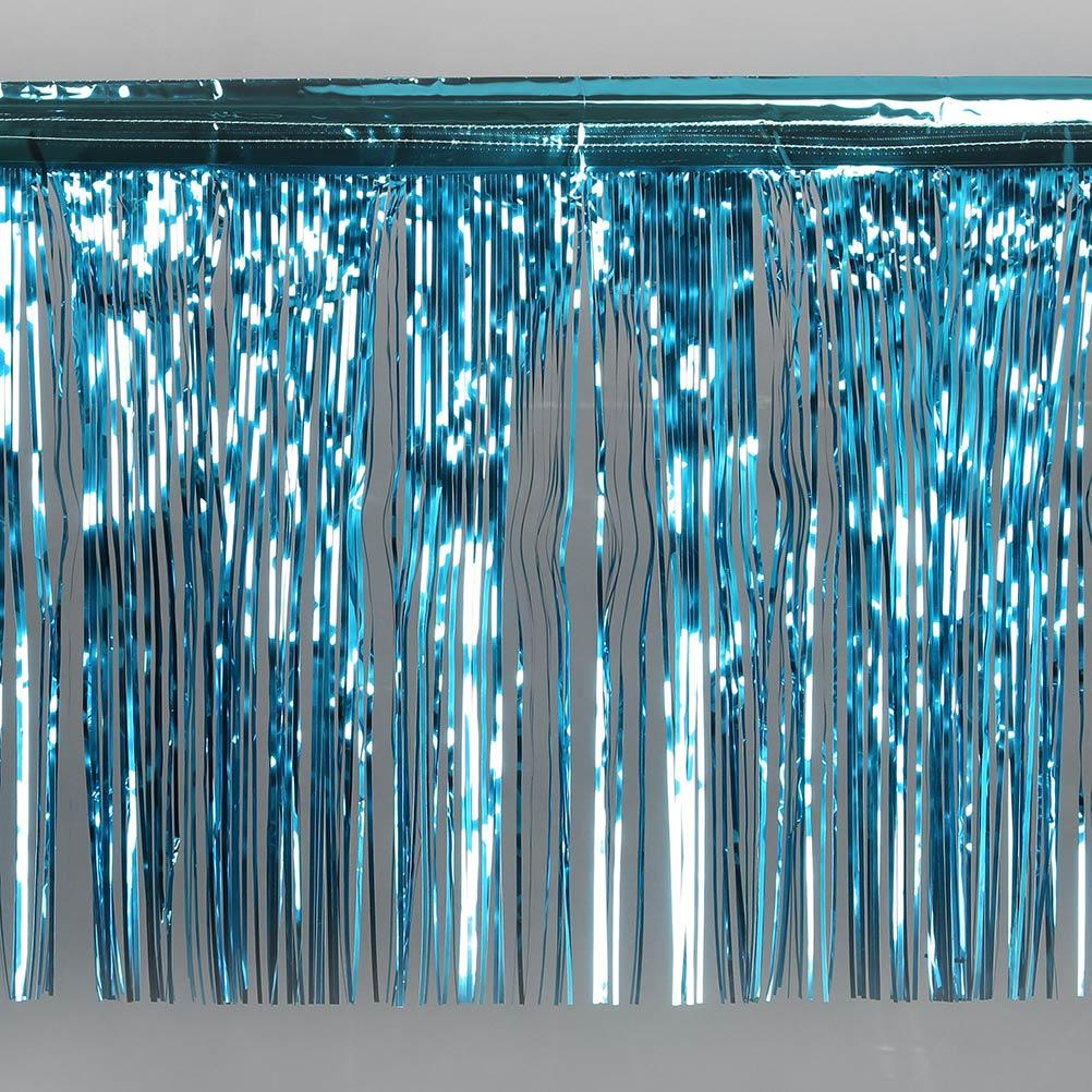 METALLIC FOIL FRINGING - TEAL