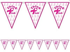 THINK PINK PENNANT BANNER