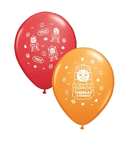 BALLOONS LATEX - THOMAS RED & YELLOW - PACK 28