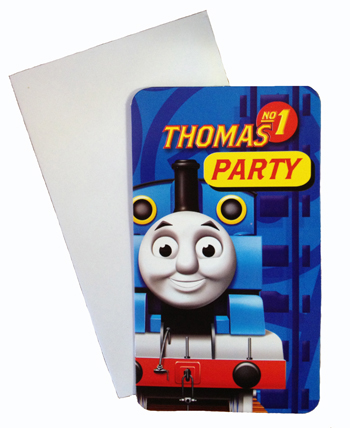 THOMAS THE TANK INVITATIONS PACK 8