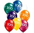 BALLOONS LATEX - 100TH BIRTHDAY JEWEL ASSORTMENT PACK OF 6