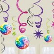 DISCO FEVER HANGING SWIRLS VALUE PACK OF 12