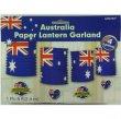 AUSTRALIAN FLAG PAPER LANTERN GARLAND