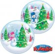 BUBBLE BALLOON - FESTIVE CHRISTMAS TREES & SNOWMEN