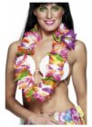HAWAIIAN FLOWER LEI - THICK & BRIGHTLY COLOURED - SET 12