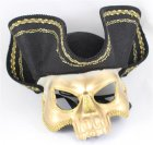 MASK - CARRIBBEAN MASQUERADE PIRATE HAT & MASK
