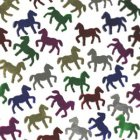 HORSE TABLE SCATTERS MULTI - COLOURED