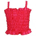 DELUX GIRLS SHIRRED BODICE TOP - HOT PINK 2-4 YEARS
