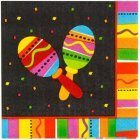 MEXICAN FIESTA FUN LUNCH NAPKINS WITH MARACAS PK OF 16