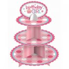 CUPCAKE STAND BIRTHDAY GIRL