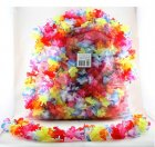 HAWAIIAN FLOWER LEIS - BULK BRIGHTLY COLOURED PACK OF 50