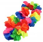 HAWAIIAN FLOWER LEI - RAINBOW NEON BULK PACK OF 48