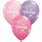 BALLOONS LATEX - PRINCESS PACK OF 6