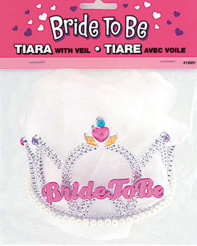 BRIDE TO BE HENS NIGHT TIARA & VEIL