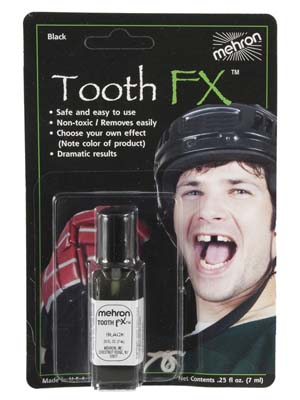 MEHRON LIQUID TOOTH FX BLACKOUT - 7ML