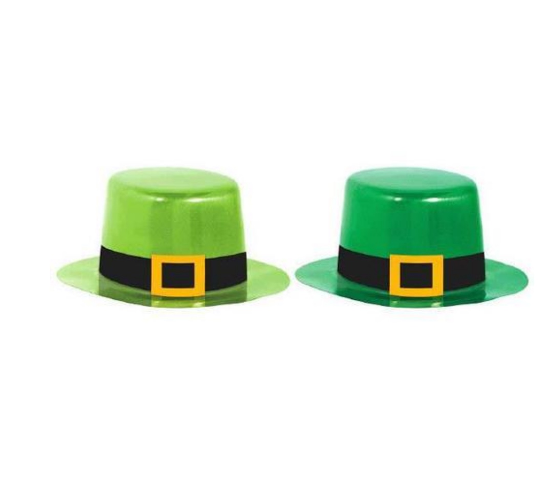 St PATRICK'S DAY MINI HATS - PACK OF 8