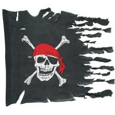 GIANT PIRATES OF THE CARRIBEAN STYLE TORN PIRATE FLAG