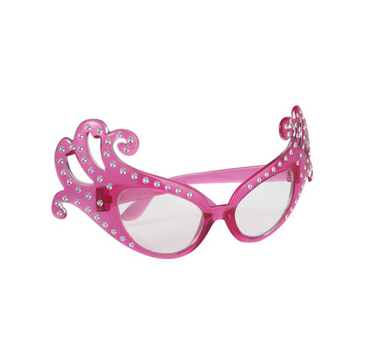DAME EDNA TYPE GLASSES - TRANSPARENT PINK
