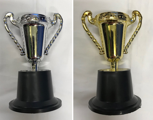 MELBOURNE CUP GOLD & SILVER TROPHY AWARDS - PACK OF 8