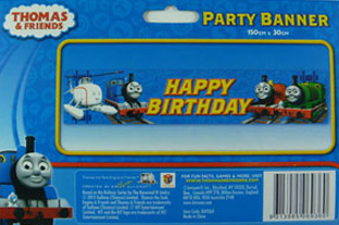 THOMAS THE TANK PARTY BANNER